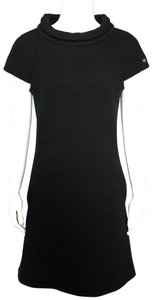 Chanel short dress Black Little Shift Funnel Neck Cap Sleeve on Tradesy
