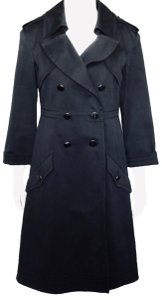Chanel Mid Length Double Breasted Military Cotton Trench Coat