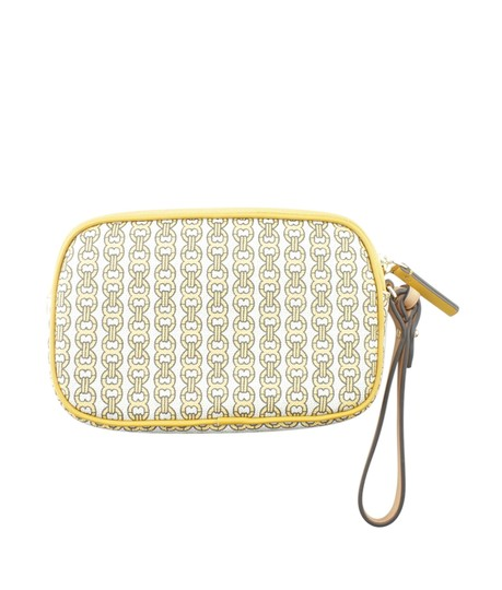 Tory Burch Canvas YellowxMulti-Color Clutch Image 2