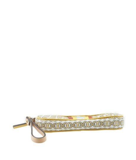 Tory Burch Canvas YellowxMulti-Color Clutch Image 5