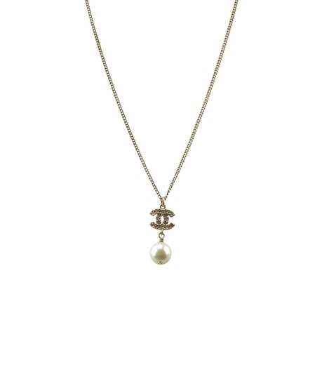 Preload https://img-static.tradesy.com/item/25776828/chanel-gold-cc-pearl-crystal-embellished-pendant-174598-necklace-0-0-540-540.jpg
