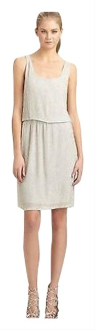 Item - Silver Women's Beaded Cocktail Mid-length Formal Dress Size 6 (S)