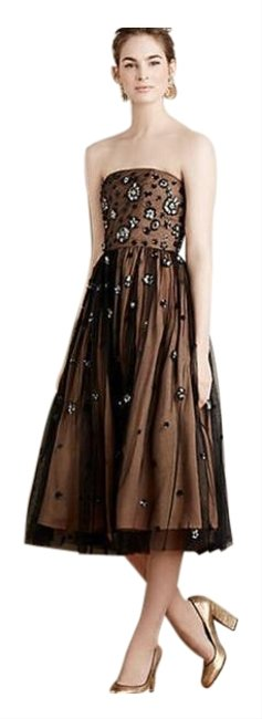 Item - Black Cream Reese Neoma Tulle Mid-length Formal Dress Size OS (one size)