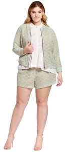 Victoria Beckham for Target Lace Plus-size Dress Shorts Mint Green / Nude