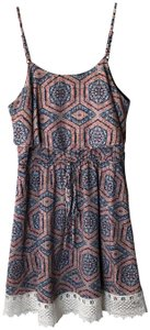 Altar'd State short dress Blue / Orange / White Boho Bohemian Anthro Anthropologie Urban Outfitters on Tradesy