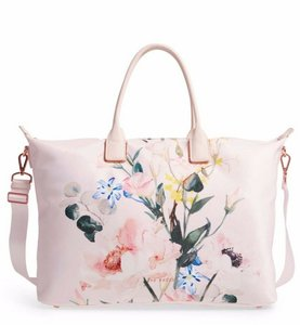 Ted Baker Travel Beach Shoulder Weekend Diaper Tote in Pink