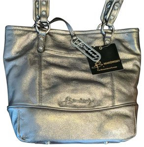 B. Makowsky Leather Metallic Shoulder Bag