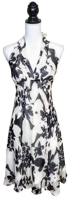 Item - Floral Silk Mid-length Work/Office Dress Size 0 (XS)