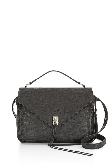 Item - Darren Ladies Ht26fdnm13 Black Leather Messenger Bag