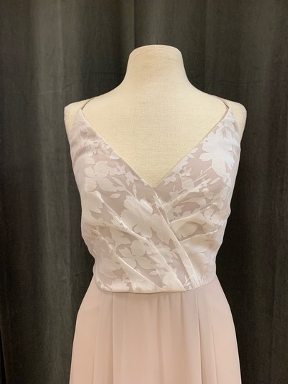 Hayley Paige Ivory/Candlelight/Cashmere Chiffon & Tuileries 5605 Feminine Bridesmaid/Mob Dress Size 10 (M) Image 4