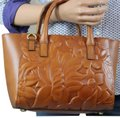 Patricia Nash Designs Satchel in gold brown
