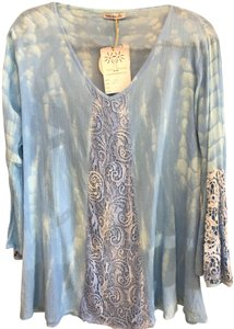 Tiare Hawaii Lace Bell Sleeve Cover Up Tie Dye Tunic