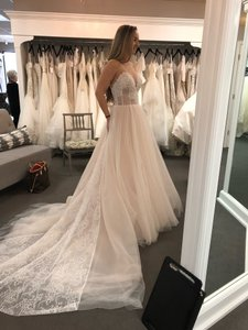 Allure Bridals Blush/Champagne (Unaltered) Gown Formal Wedding Dress Size 4 (S)