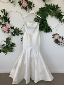 Pronovias Off White Mikado Oberon Traditional Wedding Dress Size 10 (M)