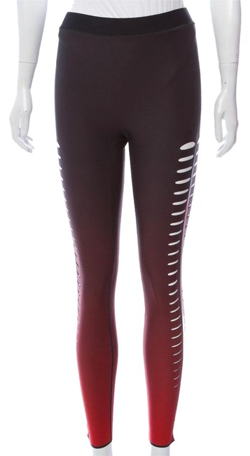 Item - Black and Red High Waist Activewear Bottoms Size 4 (S)