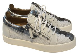 Giuseppe Zanotti silver metallic and white Athletic
