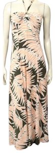 peach white brown pinkish Maxi Dress by Tommy Bahama