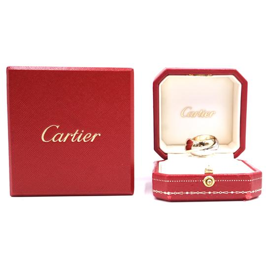 Cartier Trinity rose pink Yellow white gold ring size 51 4.25 LG Extra wide Image 2