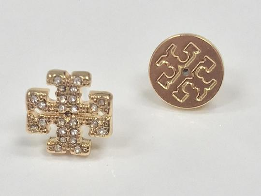Tory Burch Gold Stud Pave Crystal Logo #5740475 Earrings Image 2