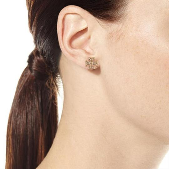 Tory Burch Gold Stud Pave Crystal Logo #5740475 Earrings Image 5