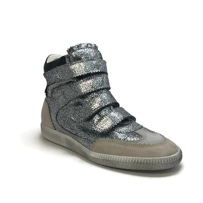 Item - Silver Bilsy Crackled Sneakers Size EU 40 (Approx. US 10) Regular (M, B)