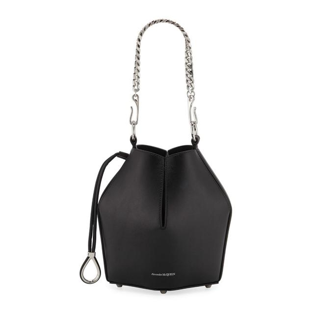 Item - Bucket Small Black Leather Cross Body Bag