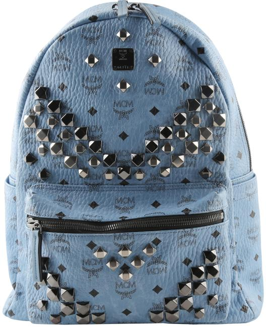 Item - Medium Studded Blue Canvas Backpack