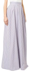 Rochas Maxi Skirt Blue maroon purple