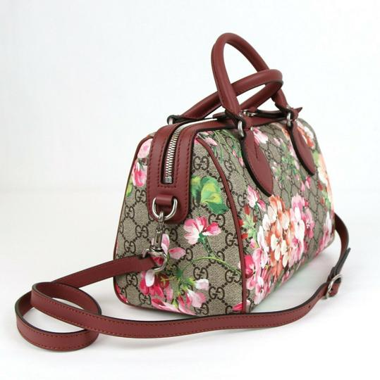Gucci Beige/Pink Bloom Gg Supreme Coated Canvas Cross Body Bag Image 1