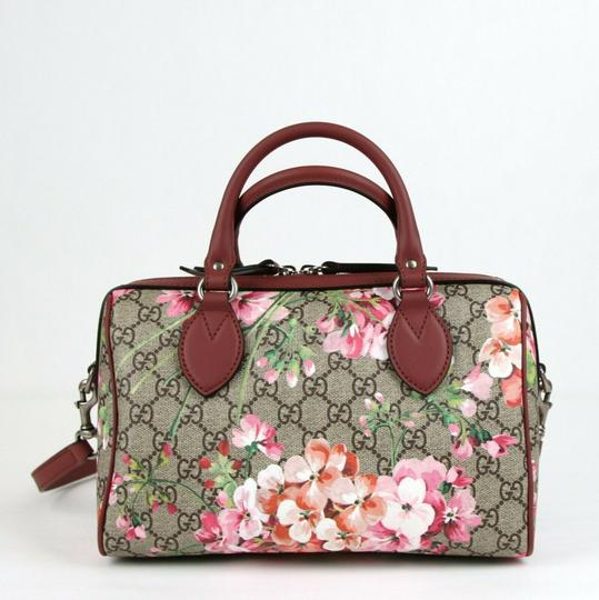Gucci Beige/Pink Bloom Gg Supreme Coated Canvas Cross Body Bag Image 3
