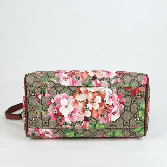 Gucci Beige/Pink Bloom Gg Supreme Coated Canvas Cross Body Bag Image 4