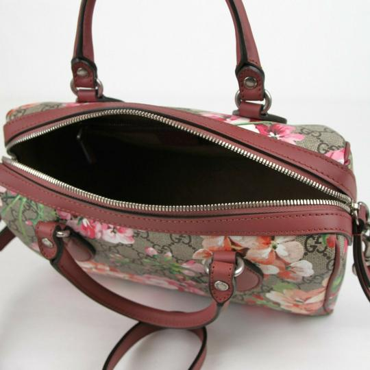 Gucci Beige/Pink Bloom Gg Supreme Coated Canvas Cross Body Bag Image 6