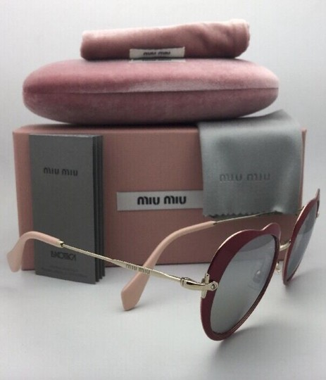 Miu Miu MIU MIU Sunglasses SMU 54R USS-2B0 Red-Gold Heart Shape+Silver Mirror Image 1