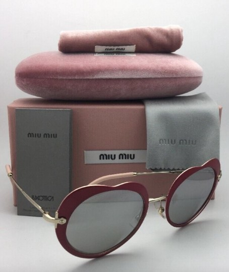 Miu Miu MIU MIU Sunglasses SMU 54R USS-2B0 Red-Gold Heart Shape+Silver Mirror Image 11