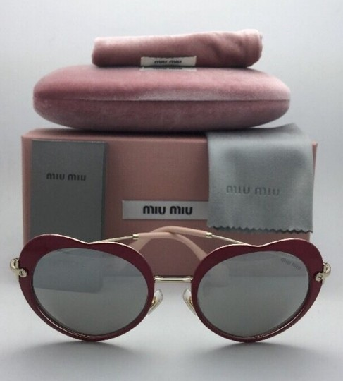 Miu Miu MIU MIU Sunglasses SMU 54R USS-2B0 Red-Gold Heart Shape+Silver Mirror Image 3