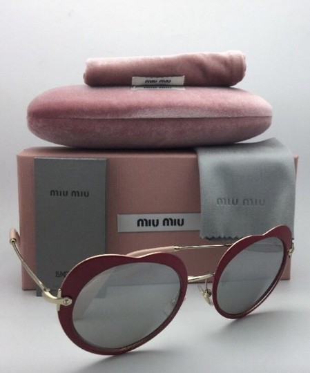 Miu Miu MIU MIU Sunglasses SMU 54R USS-2B0 Red-Gold Heart Shape+Silver Mirror Image 4