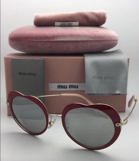 Miu Miu MIU MIU Sunglasses SMU 54R USS-2B0 Red-Gold Heart Shape+Silver Mirror Image 6