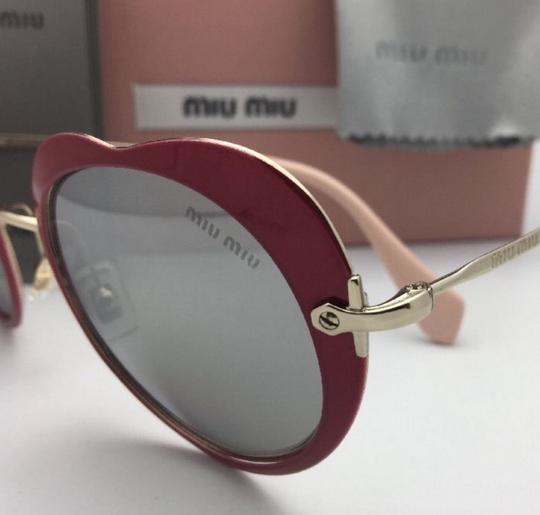 Miu Miu MIU MIU Sunglasses SMU 54R USS-2B0 Red-Gold Heart Shape+Silver Mirror Image 7