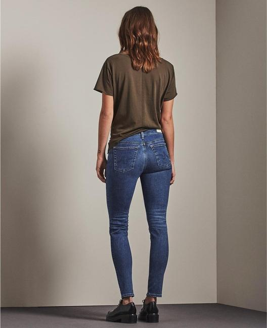 AG Whiskering Mid Rise Stretchy The Legging Ankle Skinny Jeans-Dark Rinse Image 1