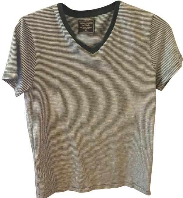 Preload https://img-static.tradesy.com/item/25778887/abercrombie-and-fitch-green-white-v-neck-tee-shirt-size-2-xs-0-1-650-650.jpg