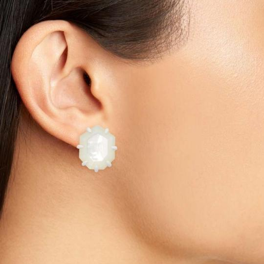 Kendra Scott Kendra Scott Aqua Turquoise Morgan Studs Earrings Image 1