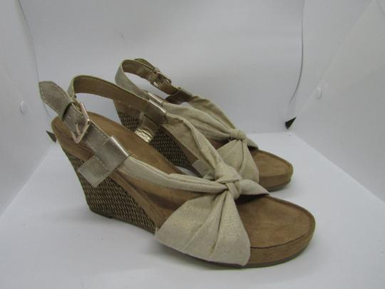 Aerosoles Light Gold Wedges Image 1