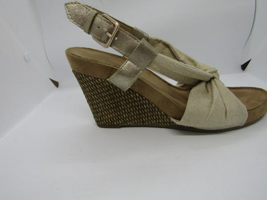 Aerosoles Light Gold Wedges Image 2