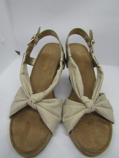 Aerosoles Light Gold Wedges Image 4