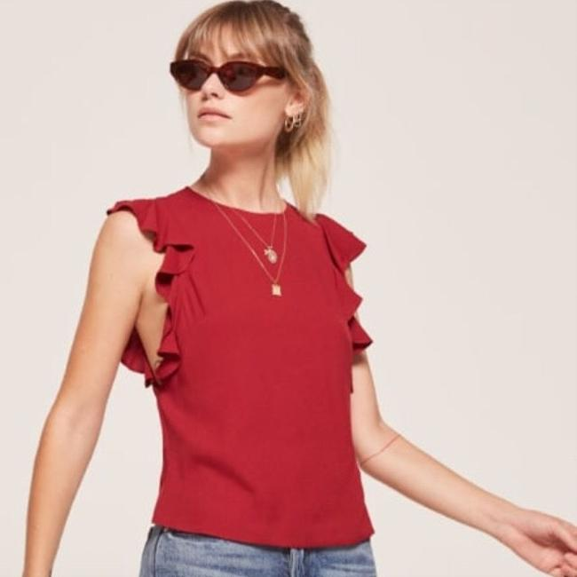 Reformation Top red Image 1