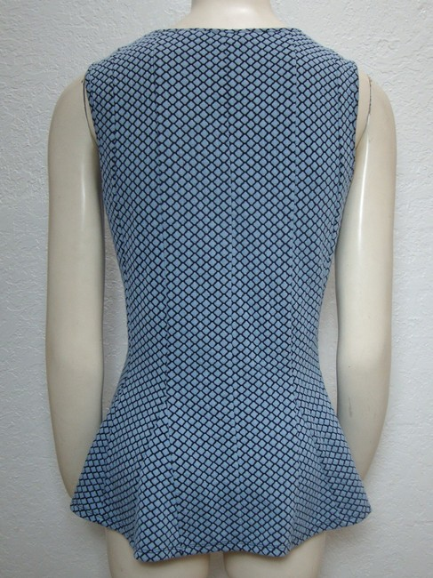 H by Halson Fit And Flare Peplum Sleeveless Retro Top Blue Image 1