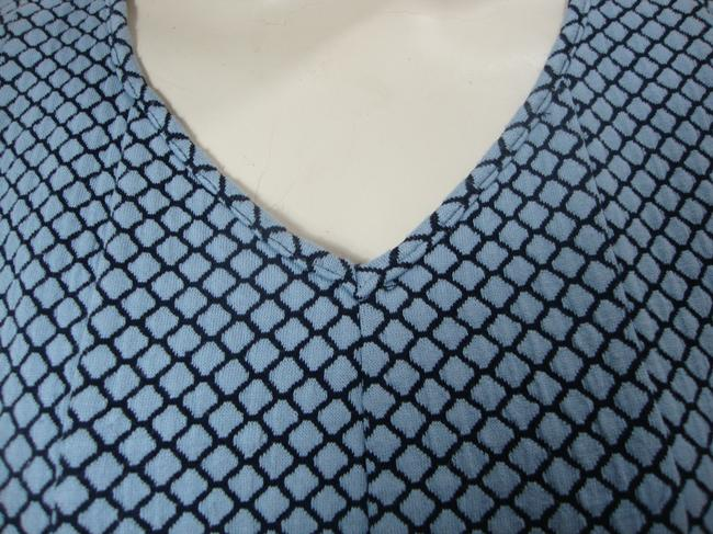 H by Halson Fit And Flare Peplum Sleeveless Retro Top Blue Image 2
