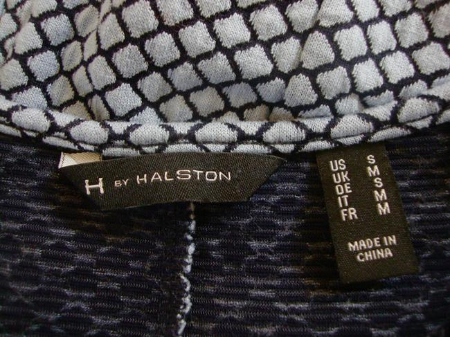 H by Halson Fit And Flare Peplum Sleeveless Retro Top Blue Image 3