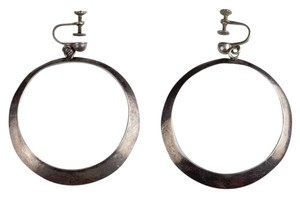 Sterling Silver Mexican Sterling Silver Dangle Hoop Earrings