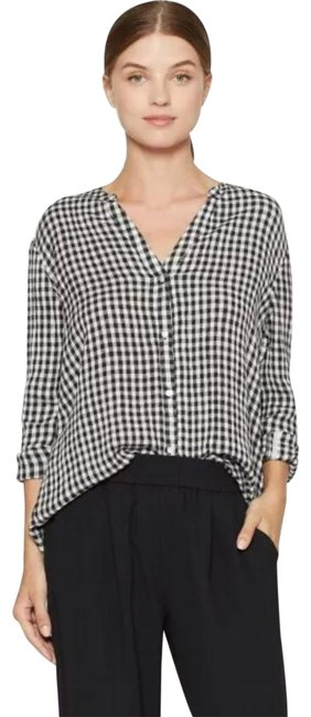 Preload https://img-static.tradesy.com/item/25779070/soft-joie-black-gingham-button-down-top-size-2-xs-0-1-650-650.jpg